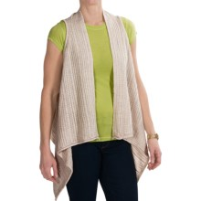 Sweater-Knit Vest (For Petite Women) in Oyster - Closeouts