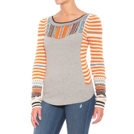 Sweet Gal Color-Block Thermal Shirt – Long Sleeve (For Women)