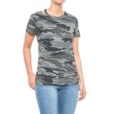 Sweet Romeo Scoop Neck Camouflage T-Shirt - Short Sleeve (For Women)