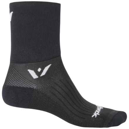 Swiftwick Four Compression Cycling Socks - Quarter Crew (For Men and Women) in Black - Closeouts