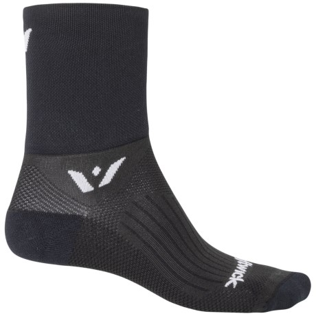 Swiftwick Four Compression Cycling Socks - Quarter Crew (For Men and Women)