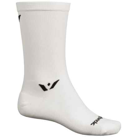 Swiftwick Sustain Athletic Socks - Crew (For Men and Women) in White - Closeouts