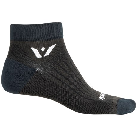 Swiftwick Sustain Low-Cut Running Socks - Ankle (For Men and Women) in Black