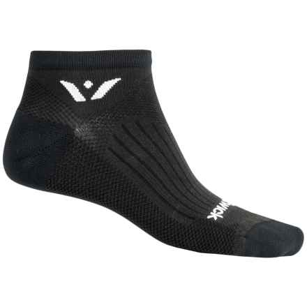 Swiftwick Sustain No-Show Running Socks - Below the Ankle (For Men and Women) in Black - Closeouts