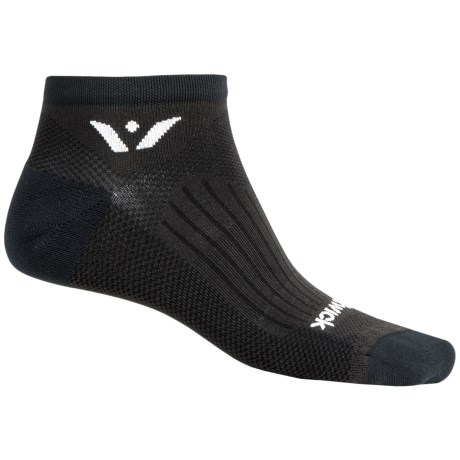Swiftwick Sustain No-Show Running Socks - Below the Ankle (For Men and Women) in Black