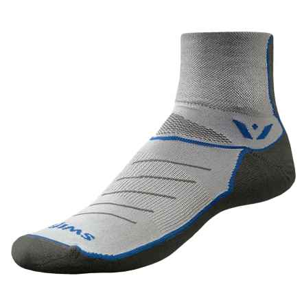Swiftwick Vibe Two Cycling Socks - Ankle (For Men and Women) in Blue - Closeouts