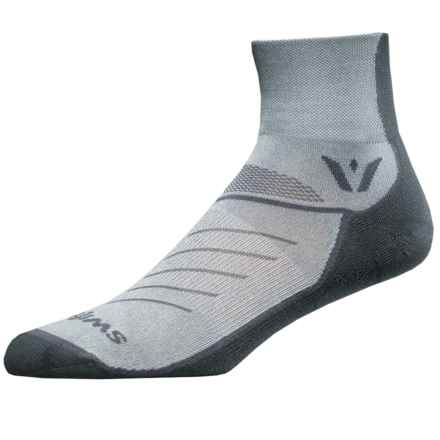 Swiftwick Vibe Two Cycling Socks - Ankle (For Men and Women) in Grey - Closeouts