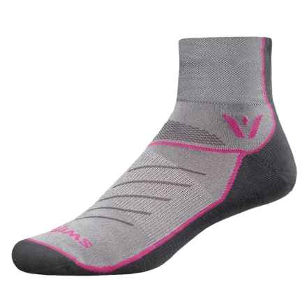Swiftwick Vibe Two Cycling Socks - Ankle (For Men and Women) in Pink - Closeouts