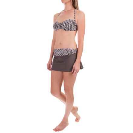 Swim Systems Bandeau Bikini Set - Skirted Bottoms (For Women) in Boca Raton - Closeouts