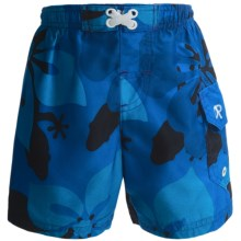 Swim Trunks (For Infant and Toddler Boys) in Blue Floral - 2nds