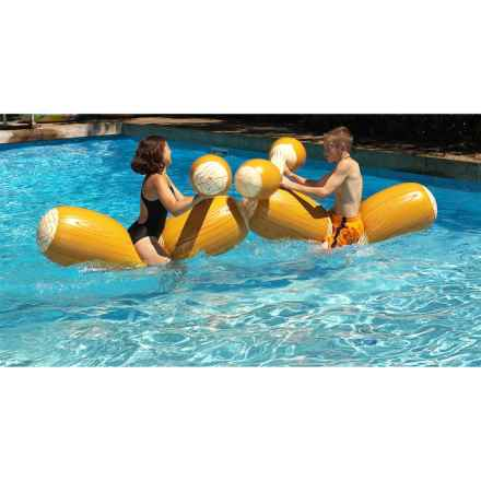 Swimline Inflatable Log Flume Pool Joust Set in See Photo - Closeouts