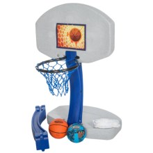 SwimWays 2-in-1 Basketball Volleyball Pool Game in See Photo - Overstock