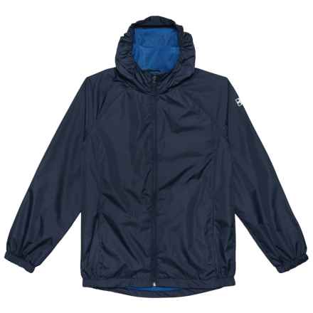 Swiss Alps Ripstop Rain Jacket (For Big Boys) in Classic Navy Primary Blue - Closeouts