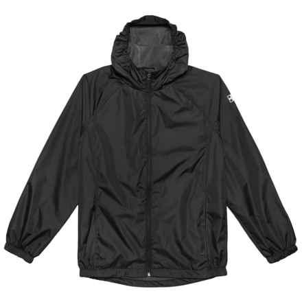 Swiss Alps Ripstop Rain Jacket (For Little Boys) in Black - Closeouts