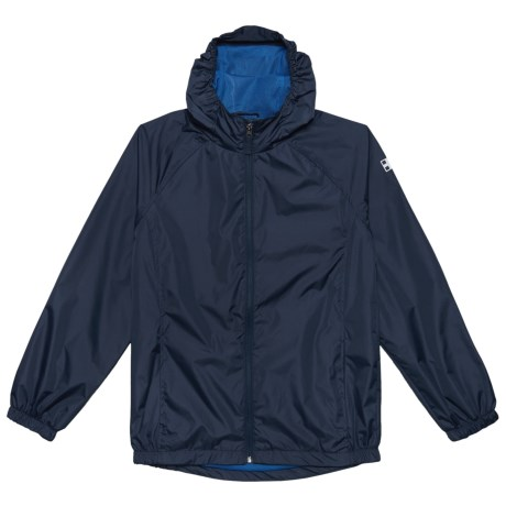 Swiss Alps Ripstop Rain Jacket (For Little Boys) in Classic Navy Primary Blue