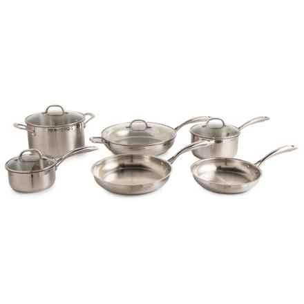 Complete Premium Steel Kitchen Set - 10-Piece Set in Silver - Closeouts