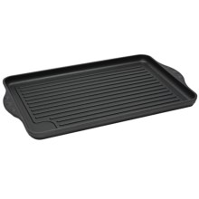 "Swiss Diamond Double Burner Grill - 17x11"", Nonstick in See Photo - Closeouts"