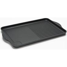 "Swiss Diamond Double Burner Grill/Griddle Combo - 17x11"", Non-Stick in See Photo - Closeouts"