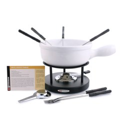 Swissmar Cheese Fondue Set - Porcelain Pot in See Photo