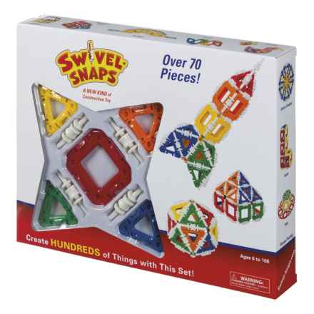 Swivel Snaps Construction Set - 70+ Pieces in See Photo - Closeouts