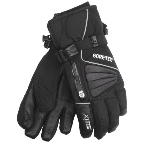 Swix Avant Garde Gore-Tex® Gloves - Waterproof (For Men) in Red/Black