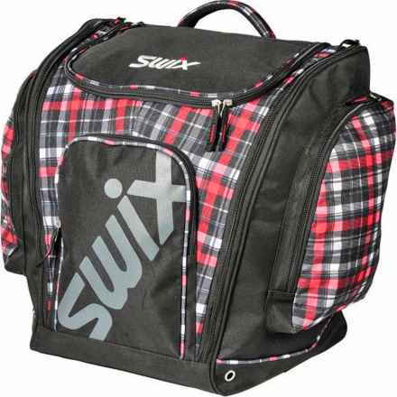Swix Carney Tri-Pack Boot Bag in Red Plaid - Closeouts