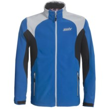Swix Corvara Jacket - Soft Shell (For Men) in Vapor Blue/Royal Blue - Closeouts