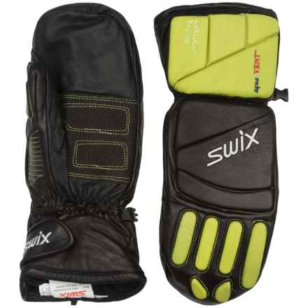Swix Davos Alpine Racing Mittens - Waterproof, Insulated (For Men) in Black/Green - Closeouts
