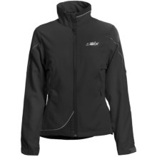 Swix Fleet Ski Jacket - Soft Shell (For Women) in Black - Closeouts