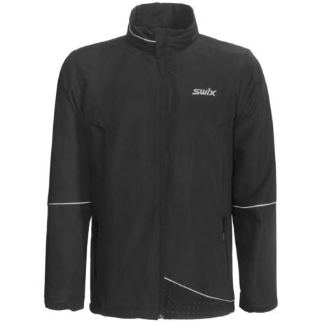 Swix Fleet Wind Jacket (For Men) in Black