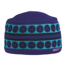 Swix Gustaf Beanie Hat - Merino Wool (For Women) in Purple/Blue - Closeouts