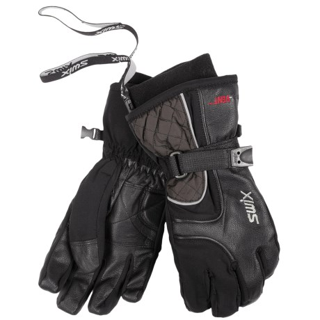 Swix Marcy Gloves - Waterproof, Insulated, Soft Shell (For Women) in Black