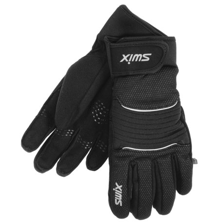Swix Membrane Gloves - Insulated (For Men) in Black