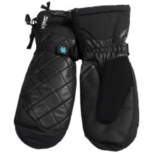 Swix Quilted Thermolite® Mittens - Waterproof (For Women) in Black - Closeouts