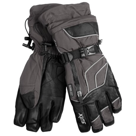 Swix Swagger Gore-Tex® Gloves - Waterproof (For Men) in Charcoal/Black