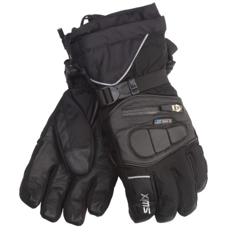 Swix Top Dog Gore-Tex® Gloves - Waterproof (For Men) in Black