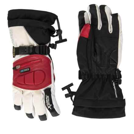 Swix Top Dog Gore-Tex® Gloves - Waterproof (For Women) in White/Crimson Red - Closeouts