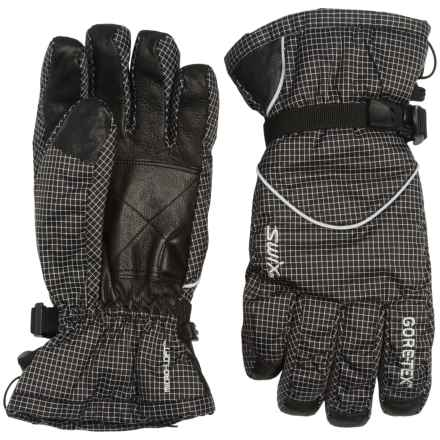 Swix Trekker Gore-Tex® Gloves - Waterproof, Insulated (For Men) in Check - Closeouts
