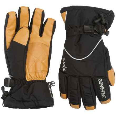 Swix Trekker Gore-Tex® Gloves - Waterproof, Insulated (For Men) in Yellow/Black - Closeouts