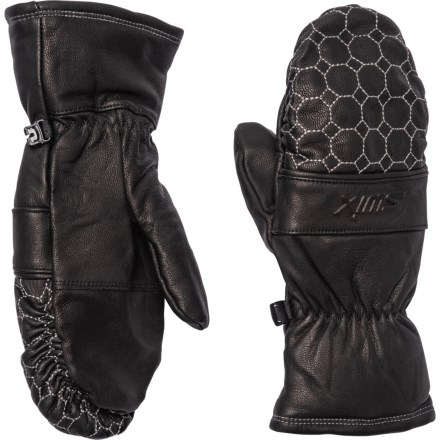 2bd8119de Swix Vicky PrimaLoft® Mittens - Insulated, Leather (For Women) in Black
