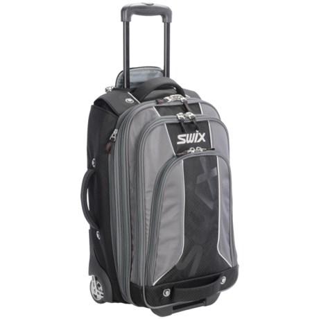 Swix Wheeled Upright Bag - Rolling in Black/Charcoal