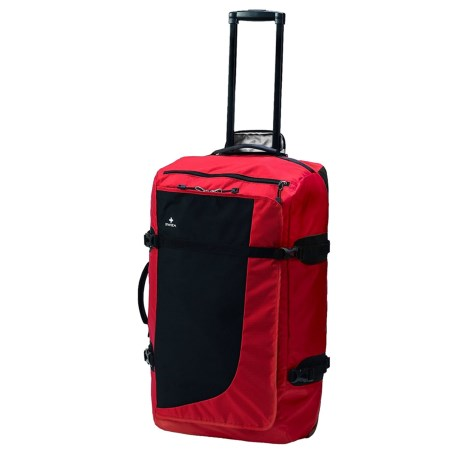 "SWIZA 27"" Continuas Rolling Duffel Bag in Red"