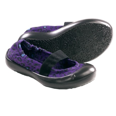 SWYT Ballerina Flats (For Little Girls) in Cheetah Love Violet