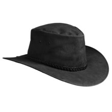Sydney Oilskin Clothing Colonial Leather Hat (For Men and Women) in Black - Closeouts