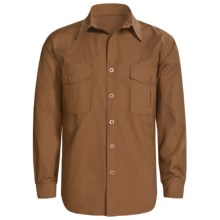 Sydney Oilskin Clothing SOC Tradesman Canvas Shirt - Oilskin Cotton, Long Sleeve (For Men) in Cigar - Closeouts