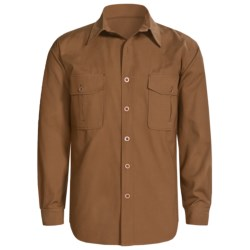 Sydney Oilskin Clothing SOC Tradesman Canvas Shirt - Oilskin Cotton, Long Sleeve (For Men) in Cigar