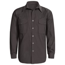 Sydney Oilskin Clothing SOC Tradesman Canvas Shirt - Oilskin Cotton, Long Sleeve (For Men) in Petrol - Closeouts