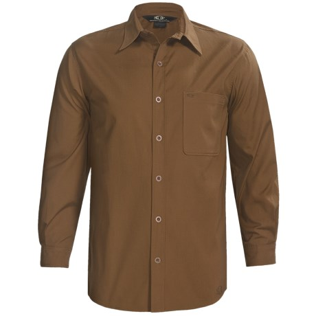 Sydney Oilskin Clothing Workhorse Barrel Wash Shirt - 8 oz. Canvas, Long Sleeve (For Men) in Cigar