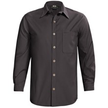Sydney Oilskin Clothing Workhorse Barrel Wash Shirt - 8 oz. Canvas, Long Sleeve (For Men) in Petrol - Closeouts