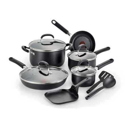T-Fal Pro Grade Titanium Nonstick Cookware Set - 12-Piece in Black - Closeouts